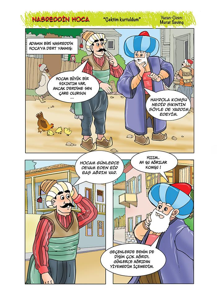 """Nasreddin Hoca """"Çektim, kurtuldum"""""""