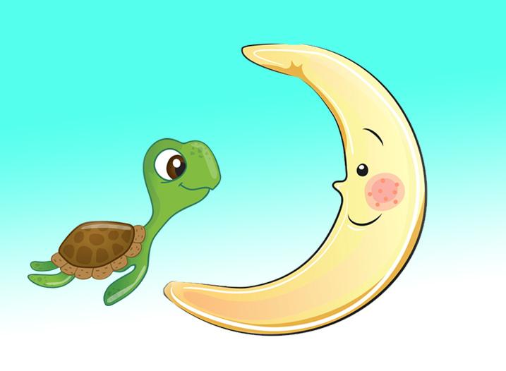 Küçük Deniz Kaplumbağası ve Ay