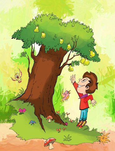 Her ağaç bir kelime, her meyve bir harf